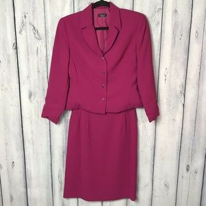 Althuser Skirt Suit Two Piece Lined Pink Career